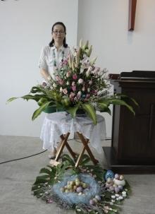 부활주일 강단장식